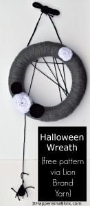 Halloween Wreath Pattern | (pattern via Lion Brand Yarn)