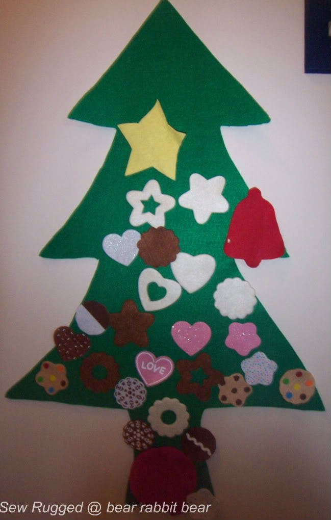 What we did this weekend felt christmas tree from empty for How did the christmas tree come about