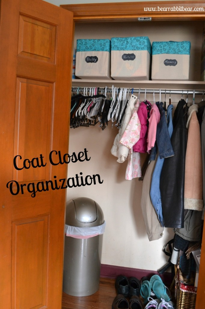 Coat Closet Organization from It Happens in a Blink