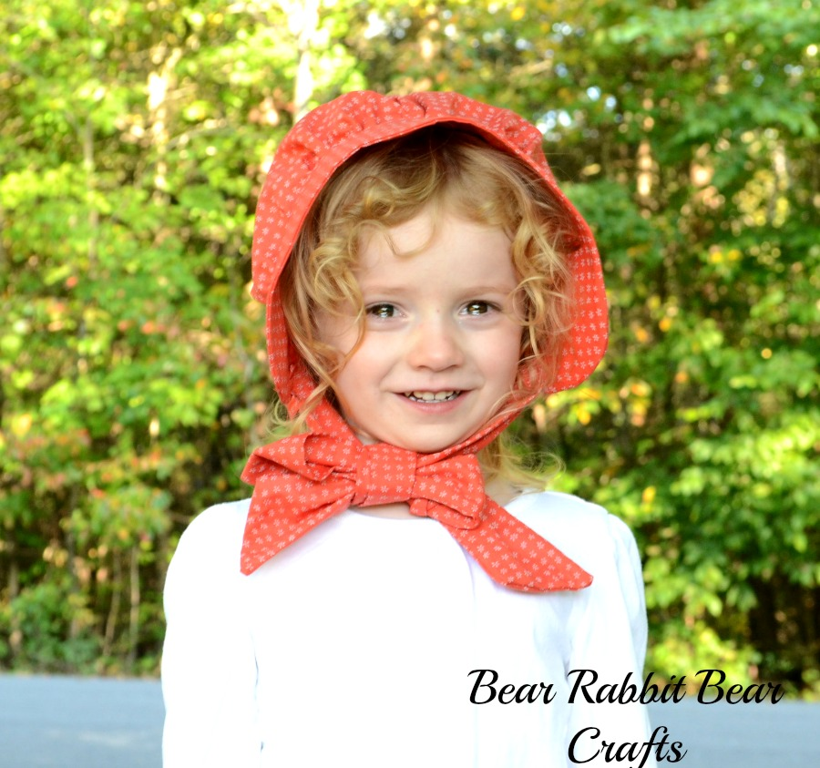 ... my costume. Do a Google search for a bonnet tutorial in the desired size or use this tutorial and adjust the measurements for girls smaller or older.  sc 1 st  It Happens in a Blink & SunMaid Raisin Halloween Costume Tutorial