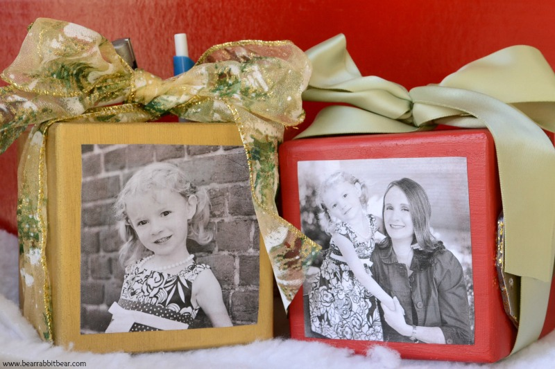 DIY Photo Desk Organizer from It Happens in a Blink