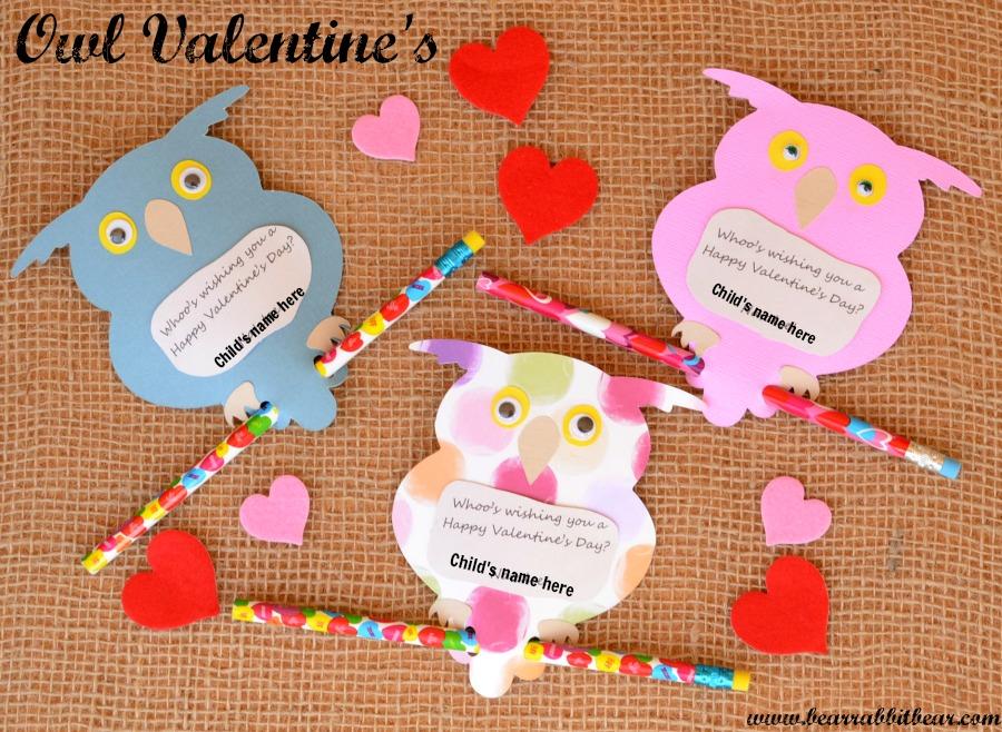 Owl Valentines – Cricut Valentines Cards