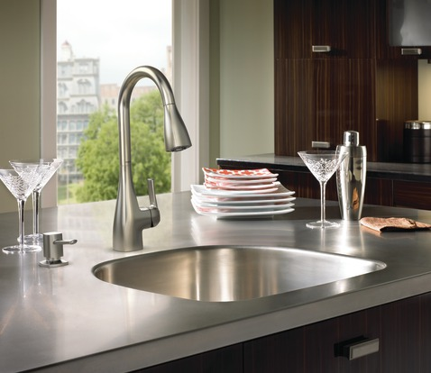 easy kitchen faucet fix with moen kiran spot resistant faucet. Interior Design Ideas. Home Design Ideas