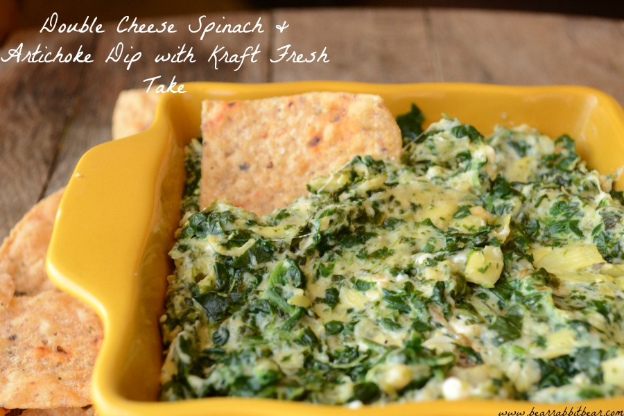 Double Cheese Spinach And Artichoke Dip With Kraft Freshtake Cbias