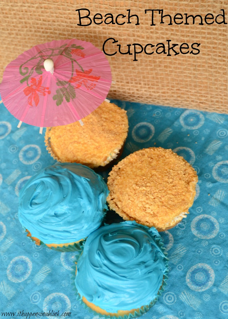 Beach Cupcakes from It Happens in a Blink
