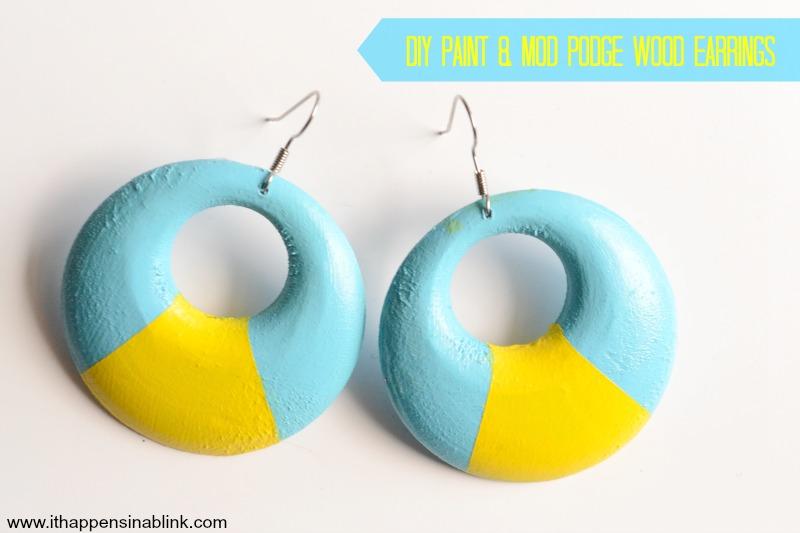 DIY Paint & Mod Podge Earrings