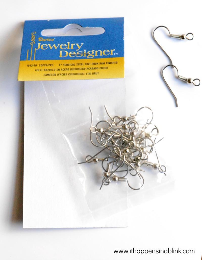 Painted Earrings Jewelry Hooks