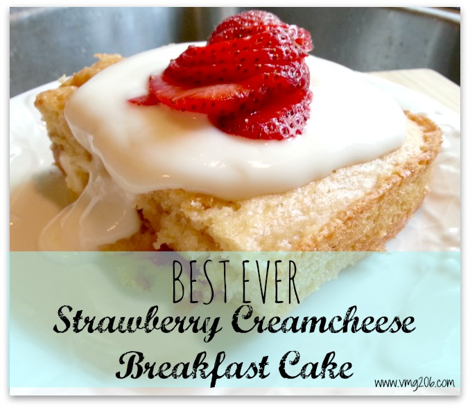 Strawberry Creamcheese Breakfast Cake