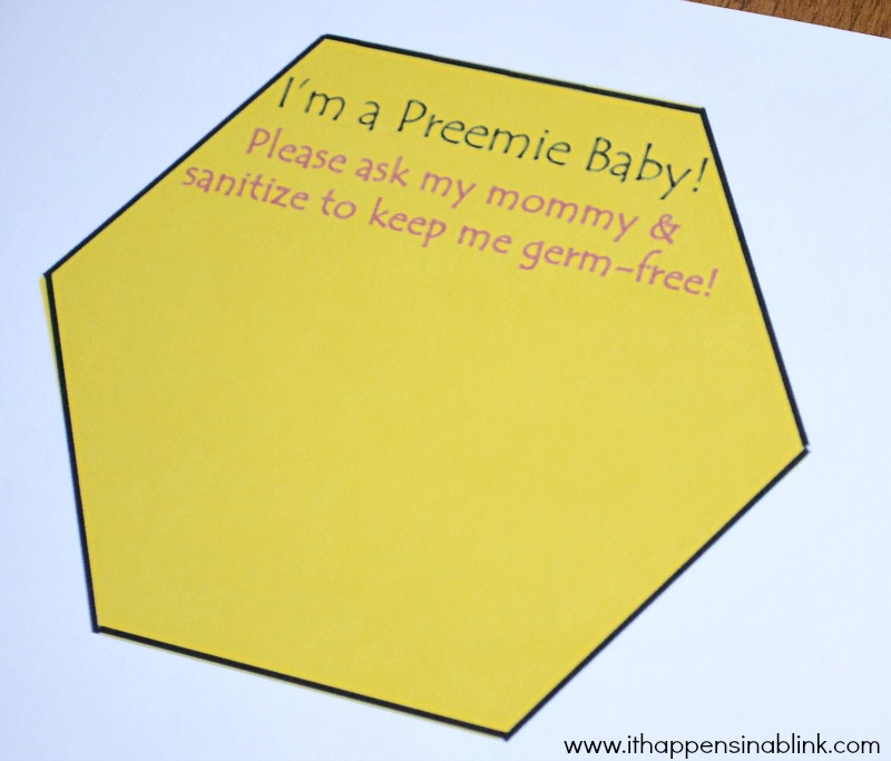 Preemie Car Seat Printable from It Happens in a Blink