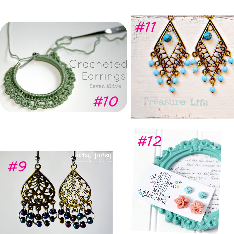 thumb in earrings tutorials stud earring diy mad crafts