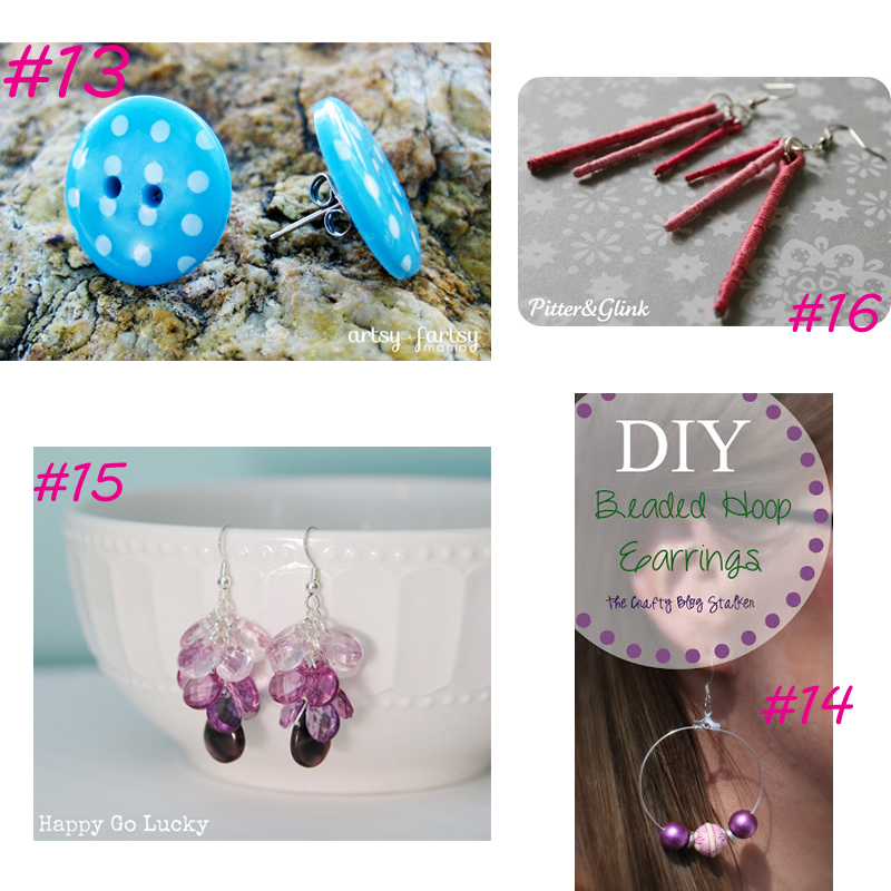 20 Earring DIY from It Happens in a Blink