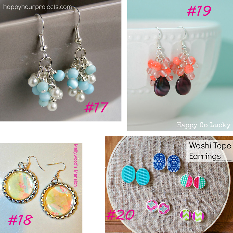 20 DIY Earrings from It Happens in a Blink