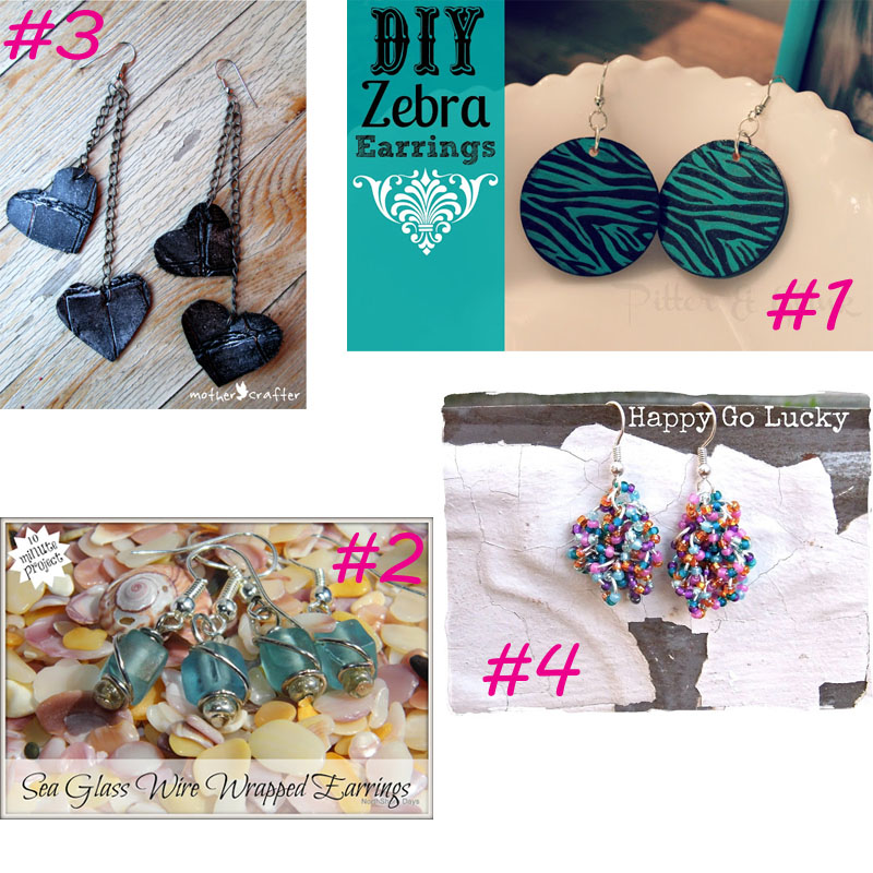 20 Easy DIY Earrings from It Happens in a Blink