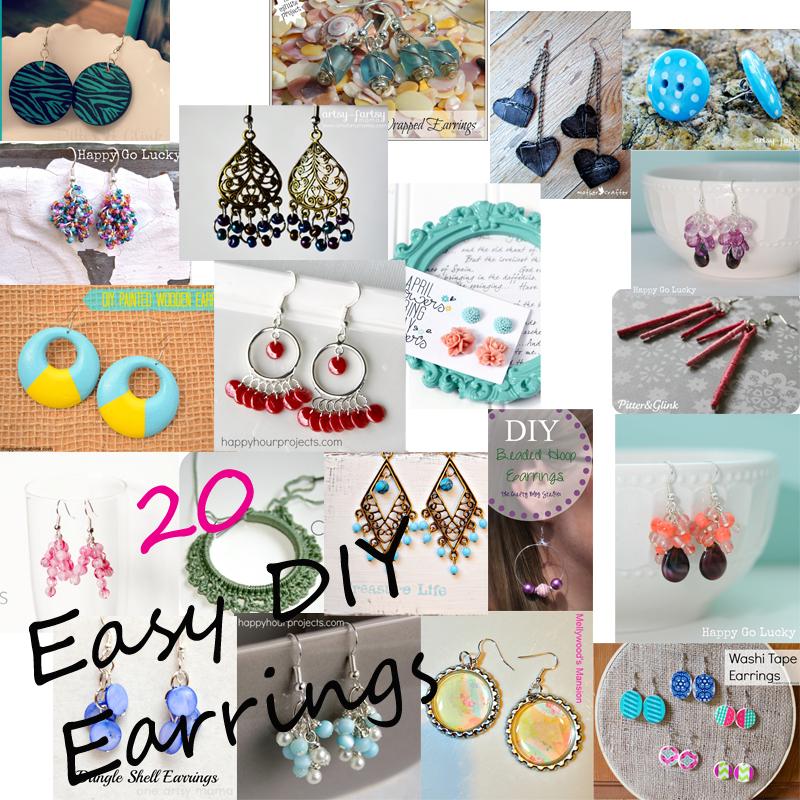 20 Easy DIY Earrings from it Happens in a Blink