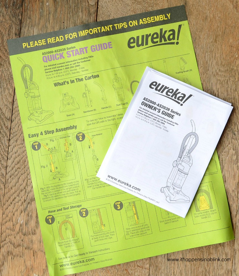 Eureka Airspeed ONE Turbo Instructions