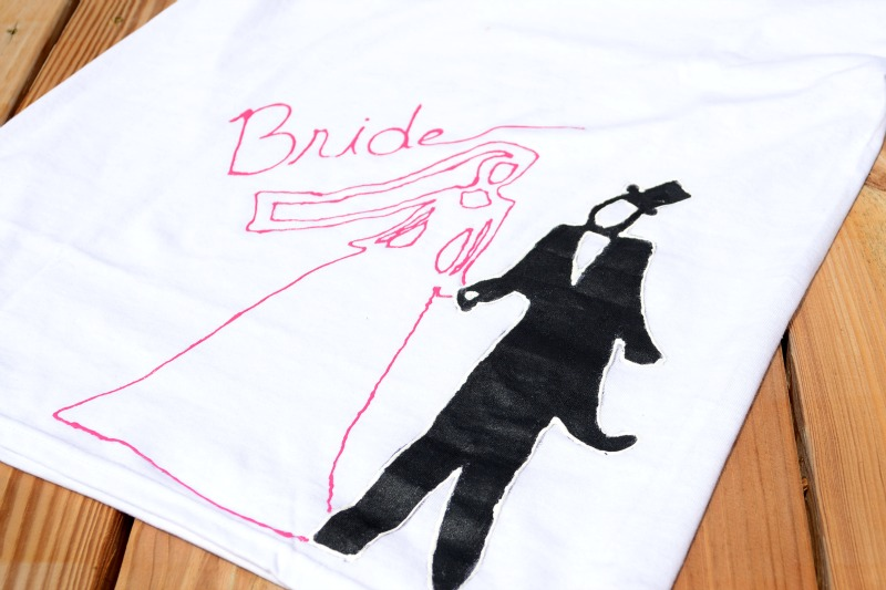 Fabric Paint Bride from It Happens in a Blink