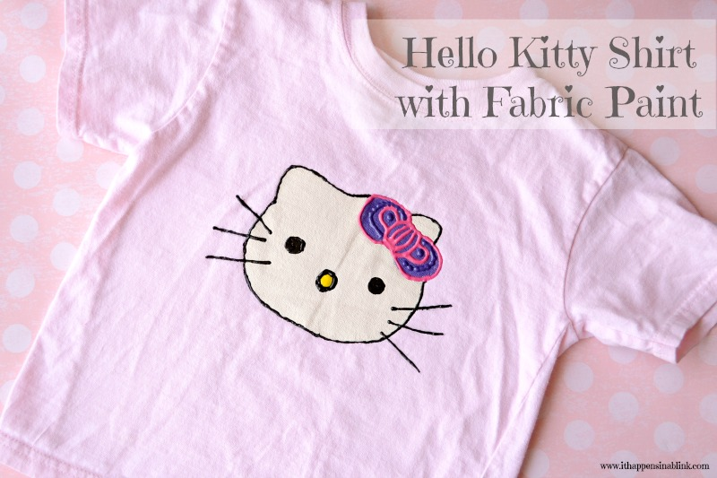 Fabric Paint Hello Kitty from It Happens in a Blink