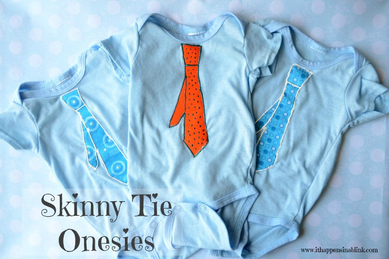 Skinny Tie Onesies from It Happens in a Blin