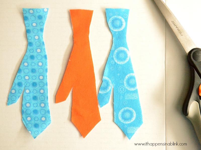 Skinny Tie Fabric Painted Onesie from It Happens in a Blink