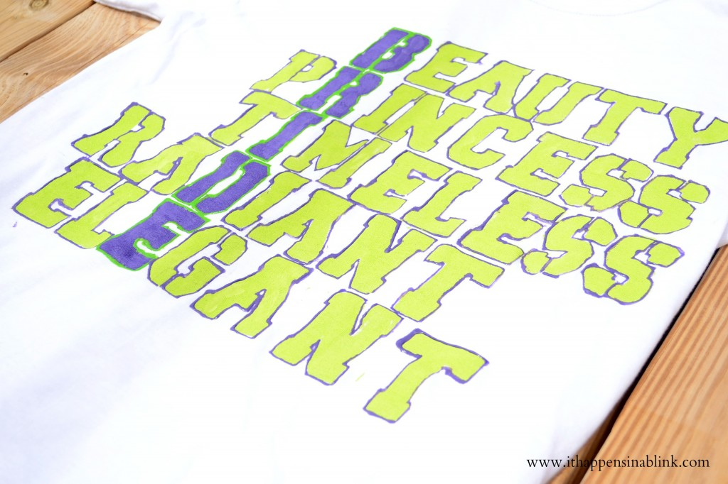 Fabric Paint Descriptive Shirt from It Happens in a Blink