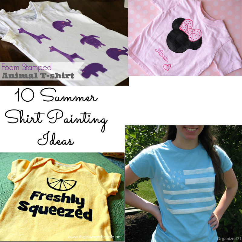 10 Summer Shirt Painting Ideas
