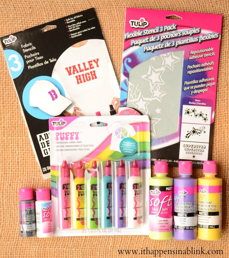 Fabric Paint Supplies from It Happens in a Blink