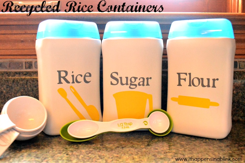Baby Rice Container Recyle from It Happens in a Blink