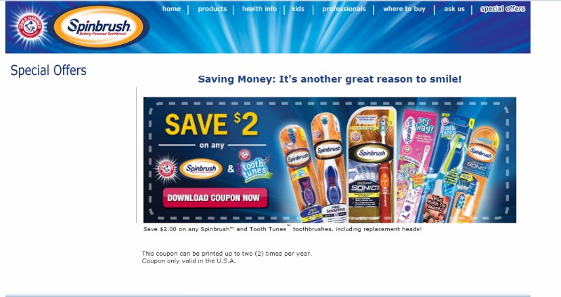 Champions for Kids and Arm and Hammer Spinbrush coupon