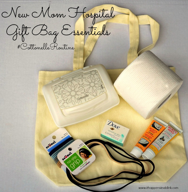 New Mom Hospital Gift Bag with Cottonelle from It Happens in a Blink