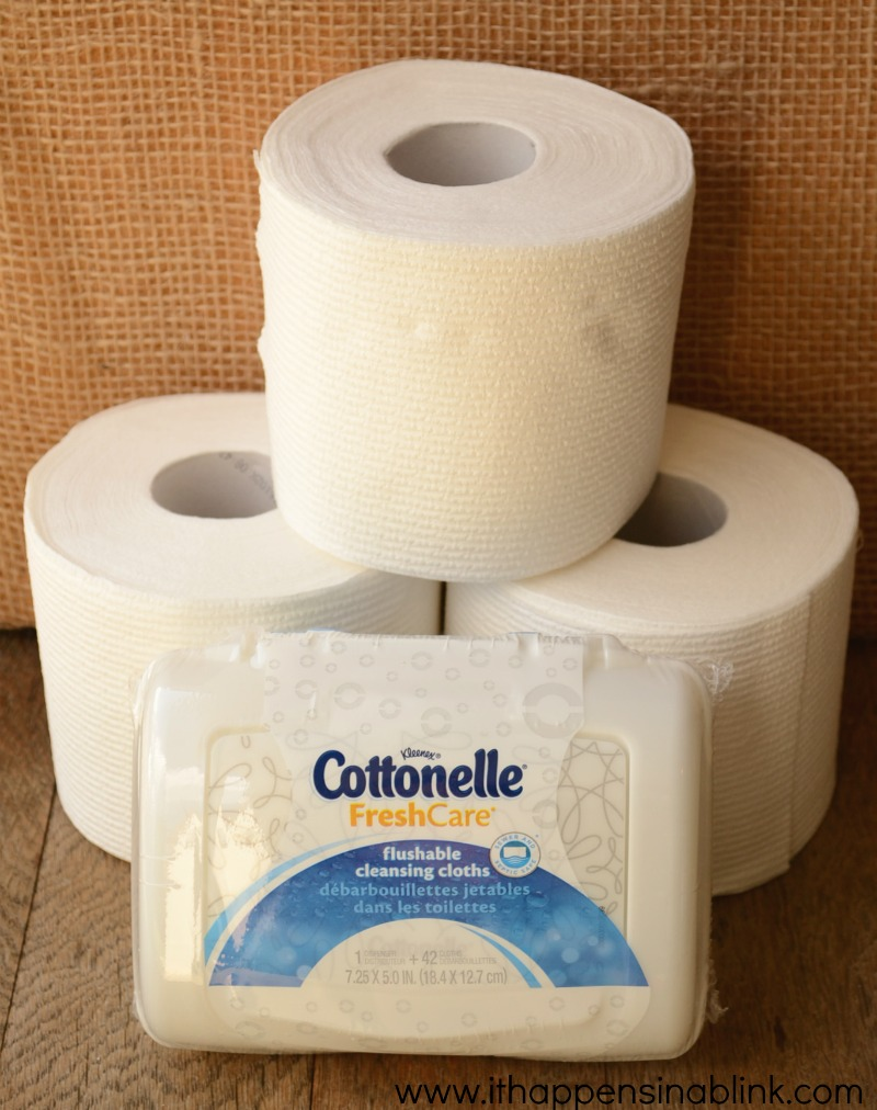 Cottonelle Toilet Paper and Wipes from It Happens in a Blink