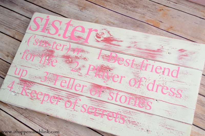 Sister Sibling Sign from It Happens in a Blink