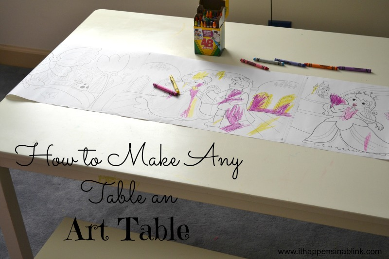How to Make Any Table an Art Table