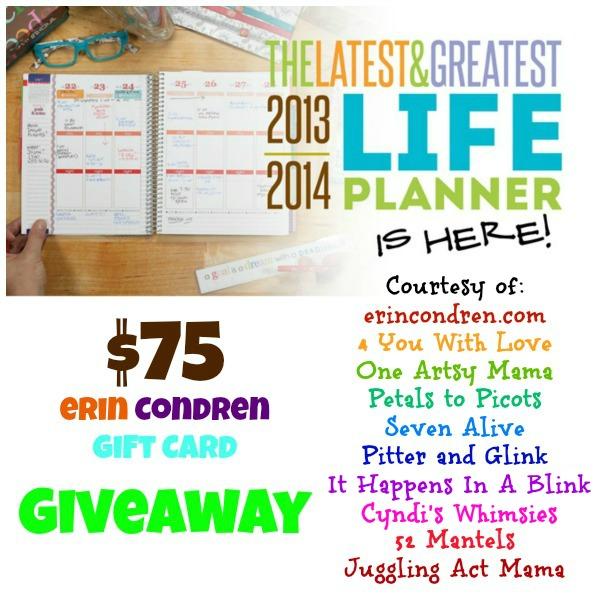 Erin Condren Life Planner Giveaway
