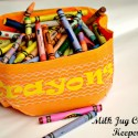 Milk Jug Crayon Bucket {a Repurposing Project}
