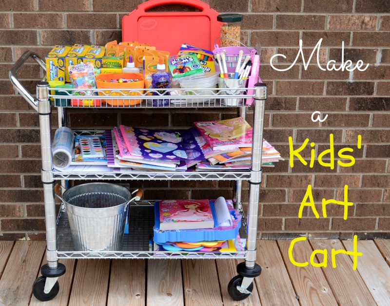 Make a Kids' Art Cart from It Happens in a Blink