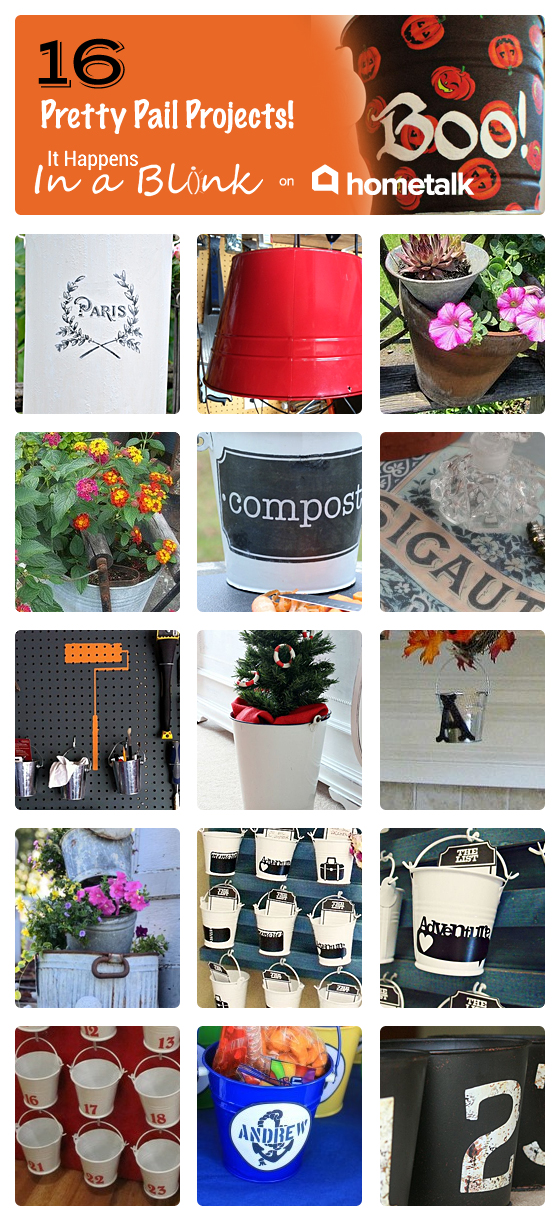 Hometalk Pretty Pails Projects