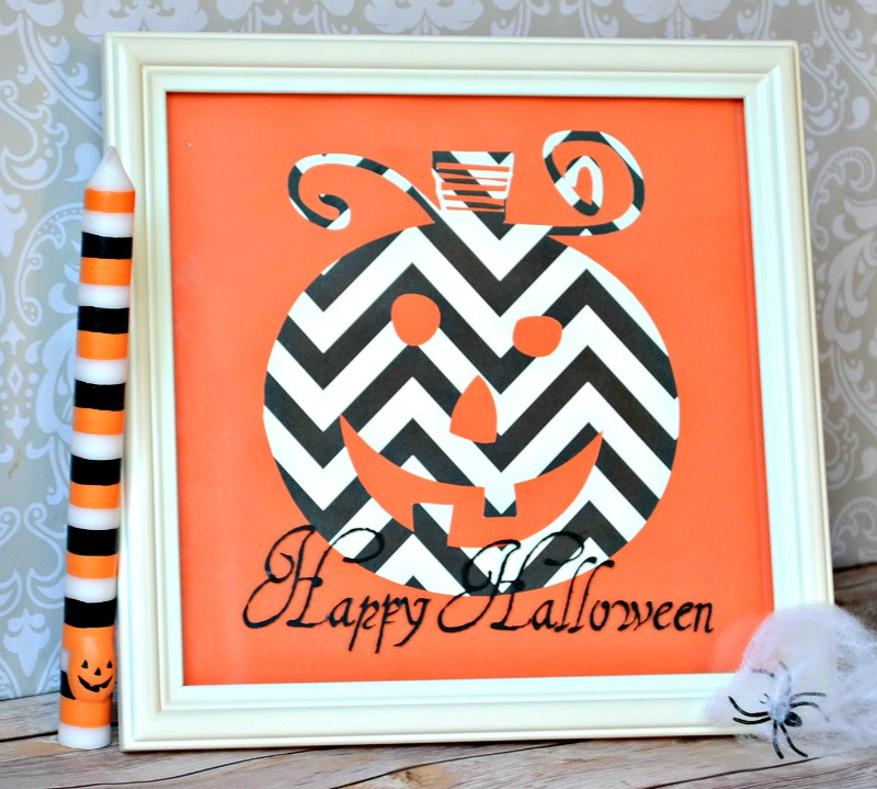 Chevron Pumpkin Decor from It Happens in a Blink