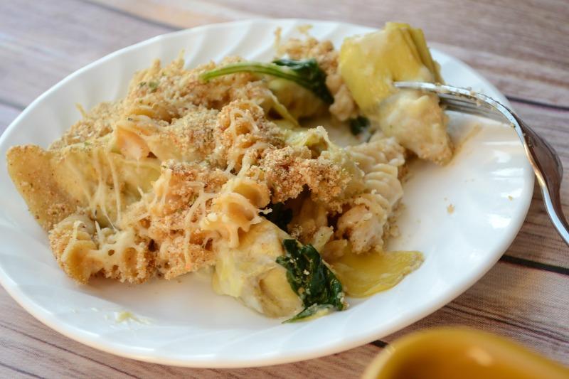 Spinach and Artichoke Quick Fix Casserole