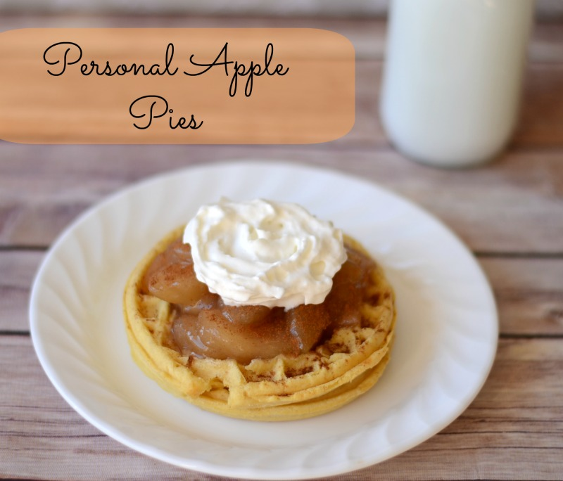 Personal Apple Pies #EggoWaffleOff #sponsored