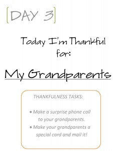 A Preschooler's Guide at Giving Thanks Day Three Page Example from It Happens in a Blink