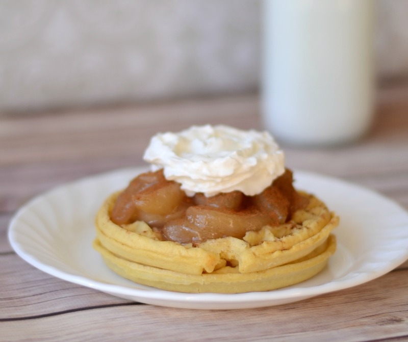 Personal Apple Pie with Waffles #EggoWaffleOff #spon