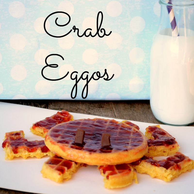 Crab Eggo from It Happens in a Blink #EggoWaffleOff #sponsored