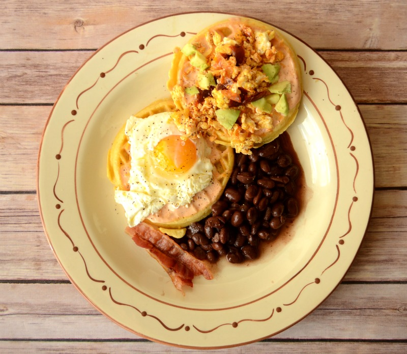 Eggs and Huevos from It Happens in a Blink #EggoWaffleOff #sponsored