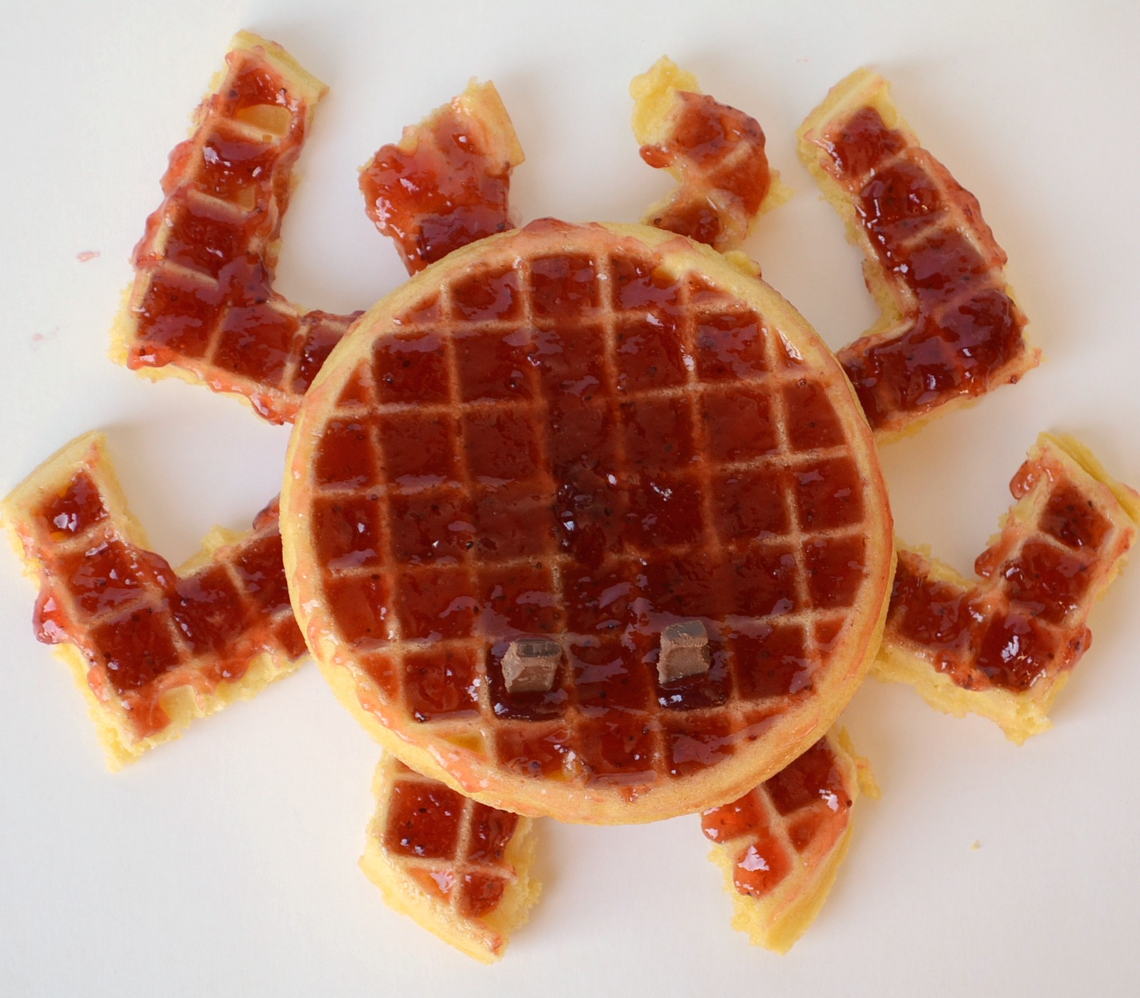 Crab Eggos from It Happens in a Blink #EggoWaffleOff #sponsored