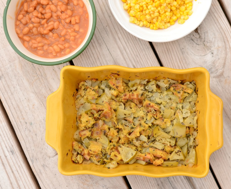 Apple and Eggo Stuffing from It Happens in a Blink