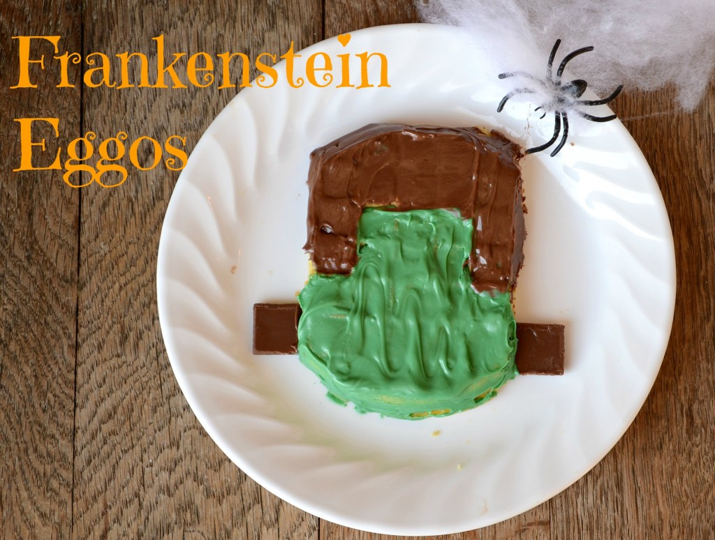 Frankenstein Eggos from It Happens in a Blink #EggoWaffleOff