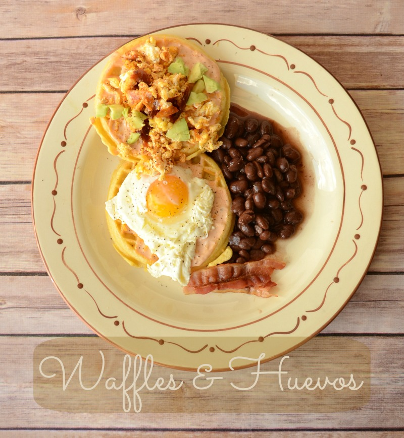 Waffles and Huevos Recipe from It Happens in a Blink #EggoWaffleOff #sponsored