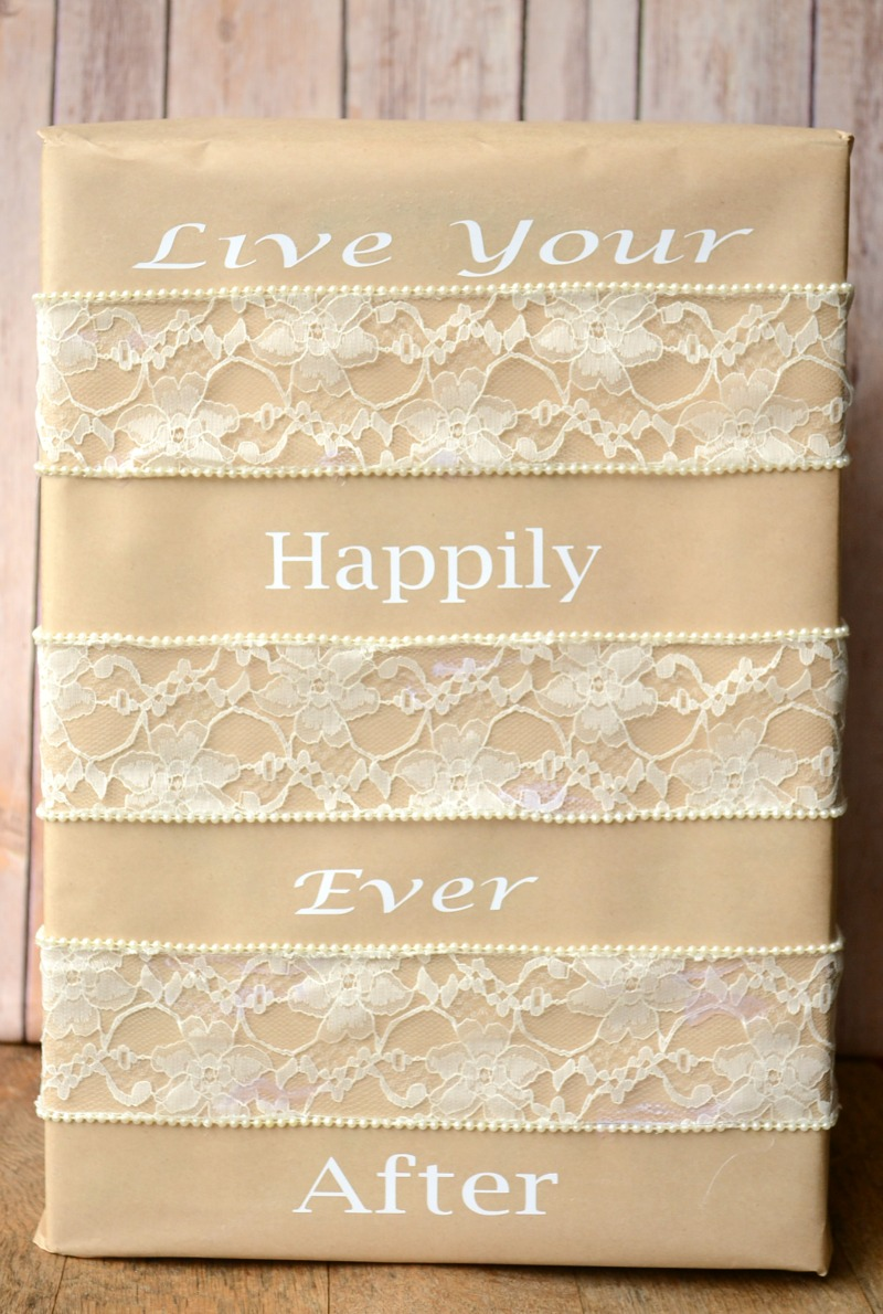 Wedding Gift Wrap from It Happens in a Blink