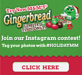 Gingerbread M & M Instagram contest #HolidayMM #shop
