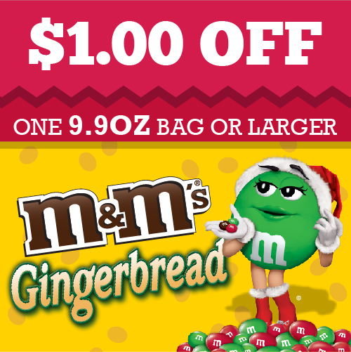 Gingerbread M & M coupon #HolidayMM #shop